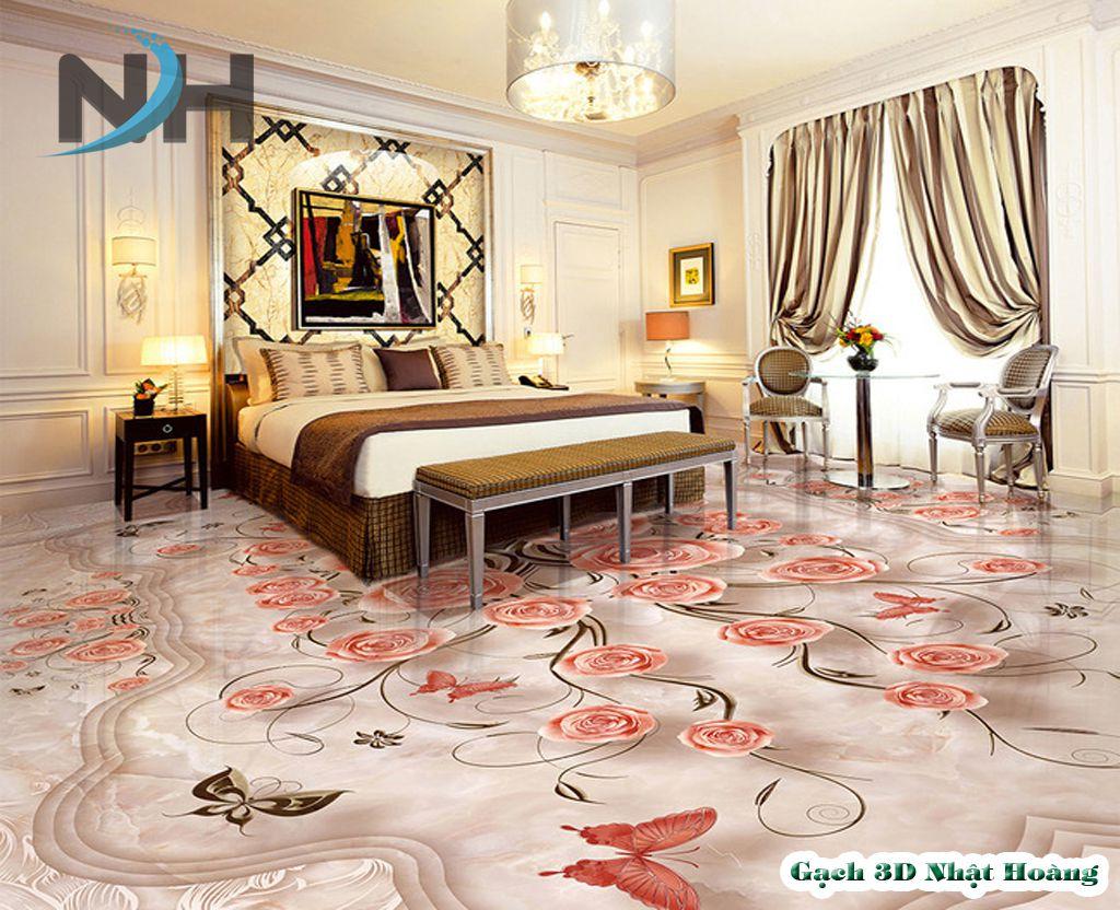 Mẫu gạch 3d phòng ngủ