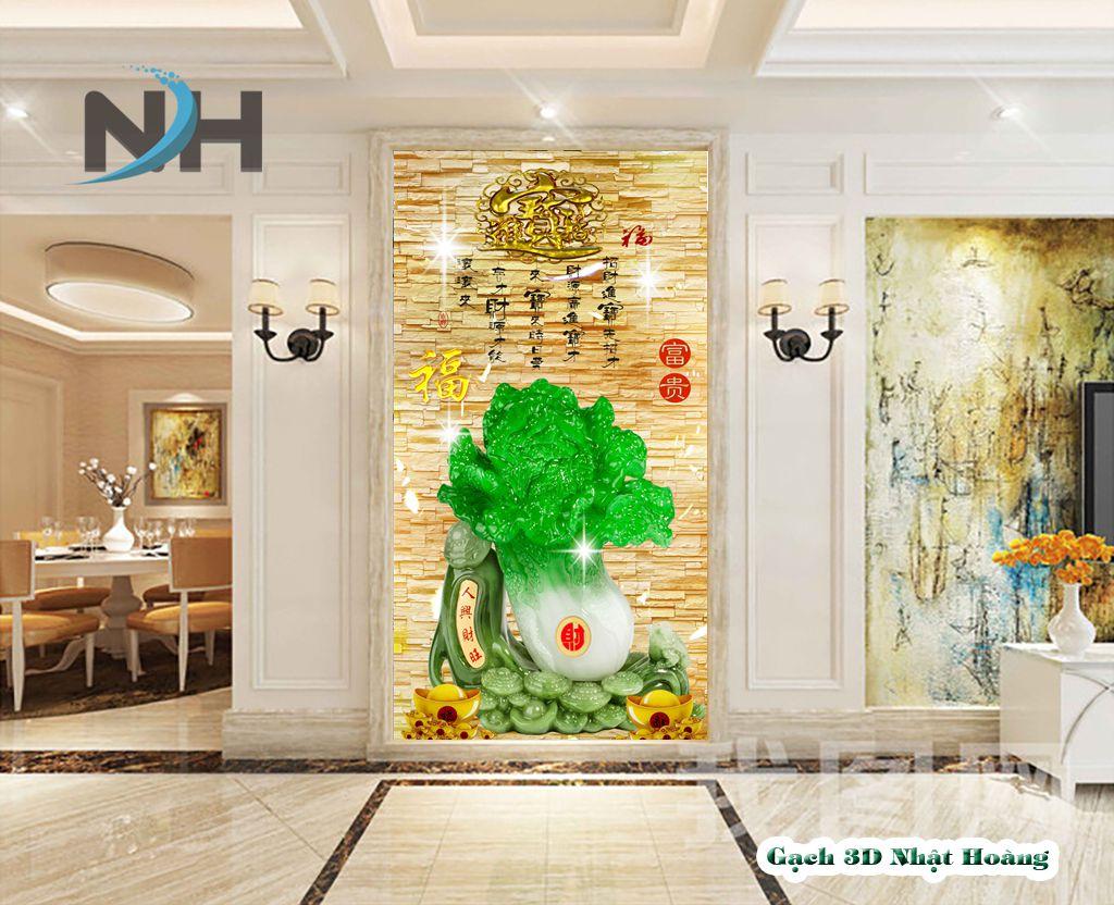 tranh gạch 5D bắp cải