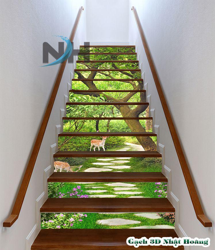 trang trí cổ bậc cầu thang