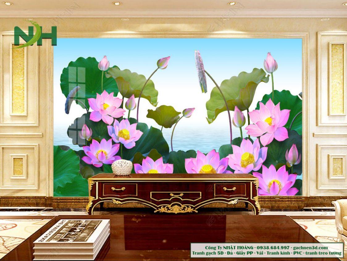 gạch 5D ốp tường hoa sen
